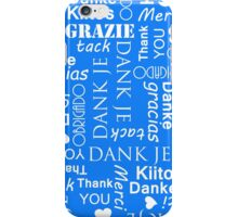 Thank You in Lots of Different European Languages iPhone Case/Skin