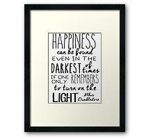 Turn On The Light Framed Print