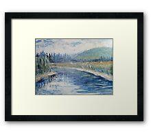 Curving Waters Framed Print