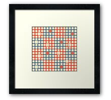 Dots and Squares Framed Print