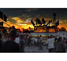 Sunset and the Fun Begins Photographic Print