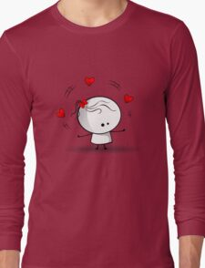 Playing with red hearts Long Sleeve T-Shirt