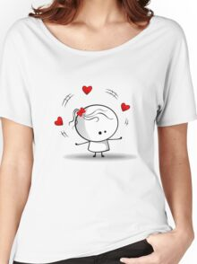 Playing with red hearts Women's Relaxed Fit T-Shirt