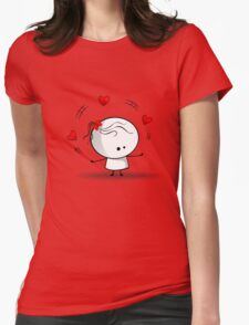 Playing with red hearts Womens Fitted T-Shirt