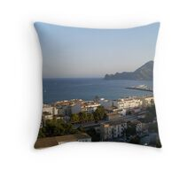 Spanish Sea and town  Throw Pillow