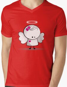Angel girl Mens V-Neck T-Shirt