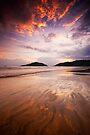 Beach on Fire by Vikram Franklin