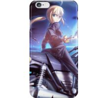 saber on a motorcycle iPhone Case/Skin