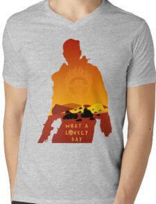 Mad Max Minimalist Mens V-Neck T-Shirt