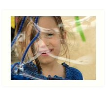 The timeless joy of bubbles Art Print