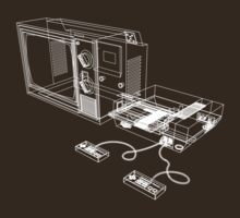 NES and TV Wireframe T-Shirt