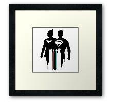 disney batman vs superman  Framed Print