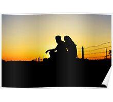 romantic silhoutte Poster
