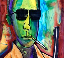 Hunter S. Thompson by thespiltink