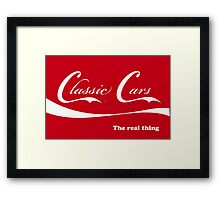 Classic Cars_The real thing Framed Print