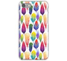 Watercolor feather iPhone Case/Skin