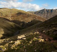 Looking back on the ascent to Crinkle Crags by Andy Stafford