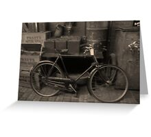 The old Raleigh Bike, Circa 1913 Greeting Card