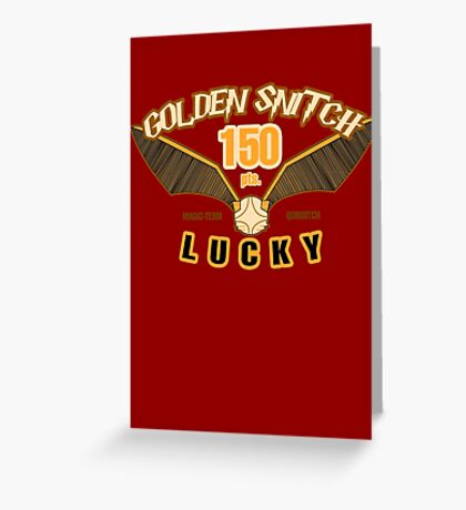 Golden Snitch - Lucky 150 pts. Greeting Card