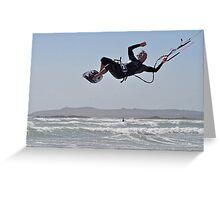 kitesurfing F16 Greeting Card