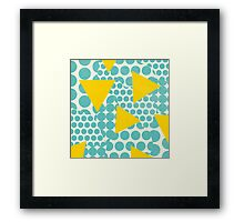 Dots and Triangles Framed Print