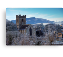 St. Flannan's Cathedral in winter, Killaloe, Ireland Canvas Print