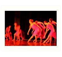 Beauty & Grace in Motion  Art Print