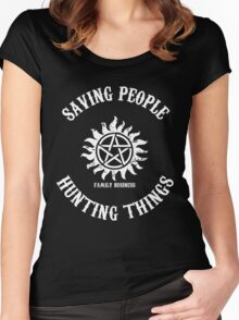 Saving People Hunting Things Women's Fitted Scoop T-Shirt