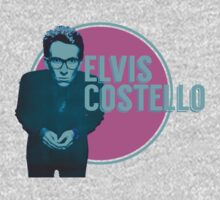 Pink And Blue Elvis Costello One Piece - Long Sleeve