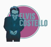 Pink And Blue Elvis Costello Kids Tee