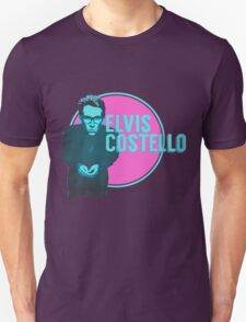 Pink And Blue Elvis Costello T-Shirt