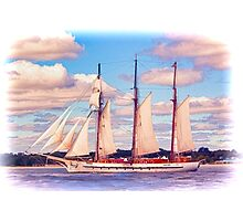 Schooner Mystic Under Sail Photographic Print