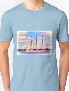 Schooner Mystic Under Sail T-Shirt