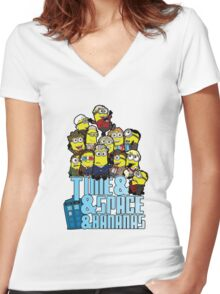 Time and Space and Bananas Women's Fitted V-Neck T-Shirt