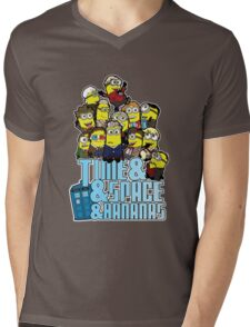 Time and Space and Bananas Mens V-Neck T-Shirt