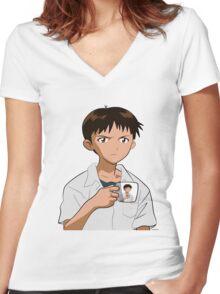 Shinjiception Women's Fitted V-Neck T-Shirt