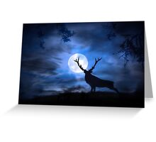 His Majesty Bull Elk Greeting Card