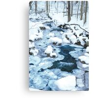 Winter Blue Canvas Print