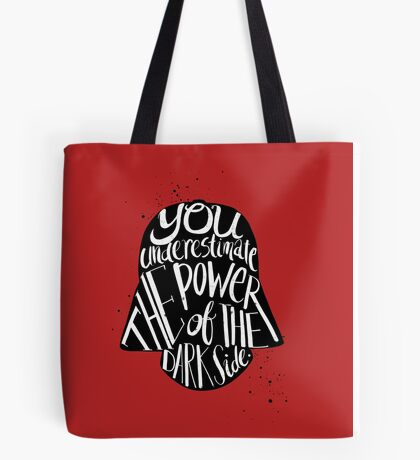 you under estimate the power typography  Tote Bag