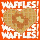 I Love Waffles 2 by DetourShirts