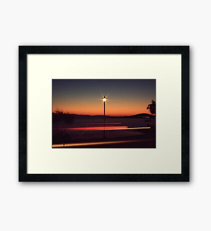 give my love to a shooting star Framed Print