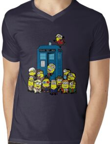 Minion Who Mens V-Neck T-Shirt