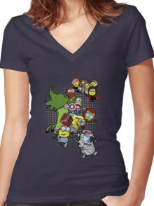 Minvengers Age of Mintron Women's Fitted V-Neck T-Shirt