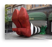 Clean pair of heels - Harrods, London Canvas Print