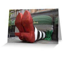 Clean pair of heels - Harrods, London Greeting Card