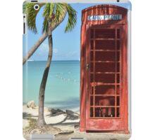 Caribbean telephone box iPad Case/Skin