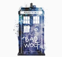 Doctor Who Tardis Bad Wolf Watercolor T-Shirt