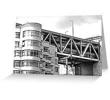 Urban Living in San Francisco - Living Under the Bay Bridge Greeting Card