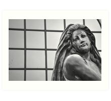 Womanly Statue Art Print