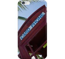 Caribbean telephone box iPhone Case/Skin